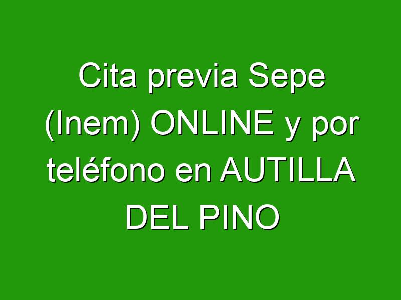 Cita previa Sepe (Inem) ONLINE y por teléfono en AUTILLA DEL PINO