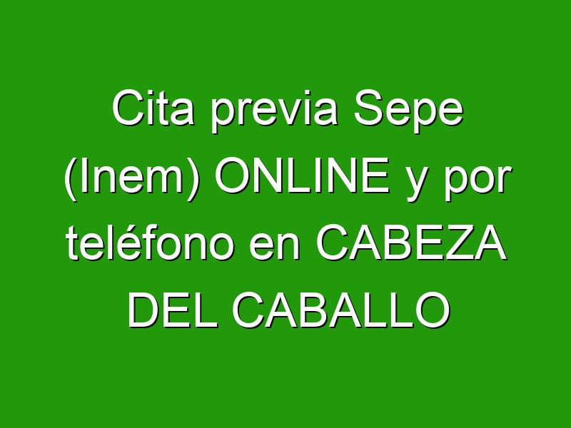 Cita previa Sepe (Inem) ONLINE y por teléfono en CABEZA DEL CABALLO
