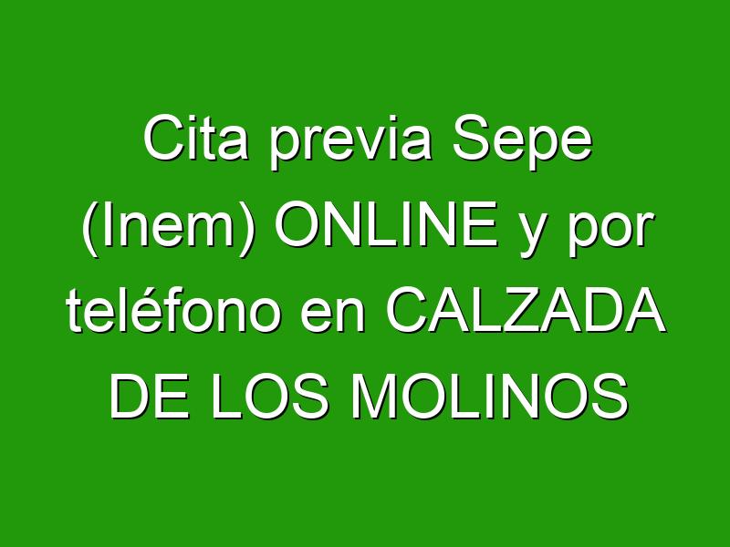 Cita previa Sepe (Inem) ONLINE y por teléfono en CALZADA DE LOS MOLINOS