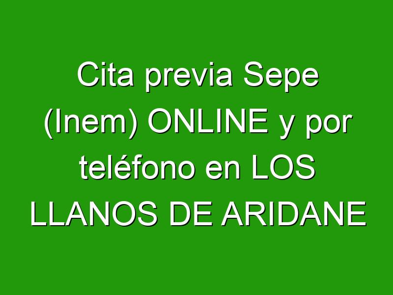 Cita previa Sepe (Inem) ONLINE y por teléfono en LOS LLANOS DE ARIDANE