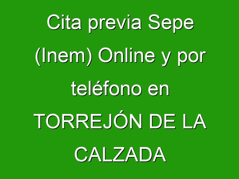Cita previa Sepe (Inem) Online y por teléfono en TORREJÓN DE LA CALZADA