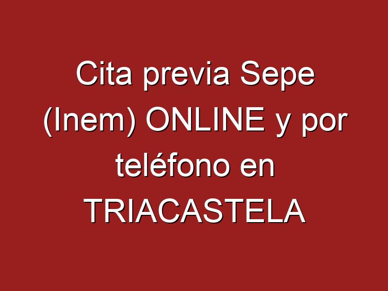 Cita previa Sepe (Inem) ONLINE y por teléfono en TRIACASTELA