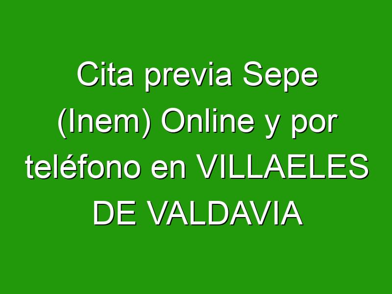 Cita previa Sepe (Inem) Online y por teléfono en VILLAELES DE VALDAVIA