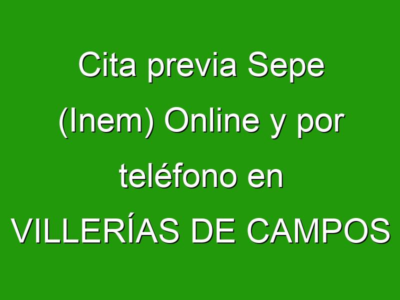 Cita previa Sepe (Inem) Online y por teléfono en VILLERÍAS DE CAMPOS