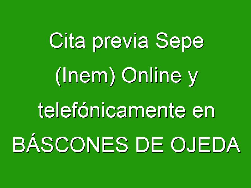 Cita previa Sepe (Inem) Online y telefónicamente en BÁSCONES DE OJEDA