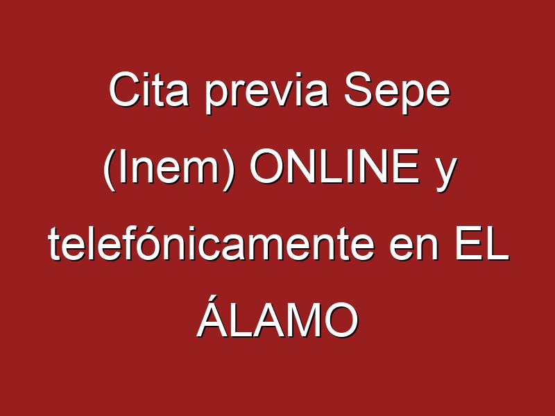Cita previa Sepe (Inem) ONLINE y telefónicamente en EL ÁLAMO