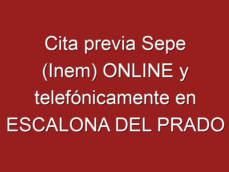 Cita previa Sepe (Inem) ONLINE y telefónicamente en ESCALONA DEL PRADO