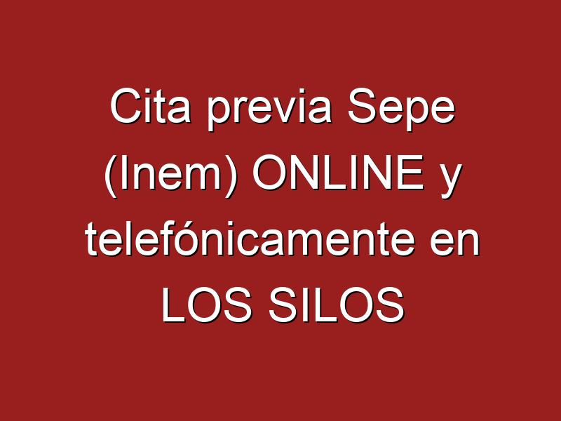 Cita previa Sepe (Inem) ONLINE y telefónicamente en LOS SILOS