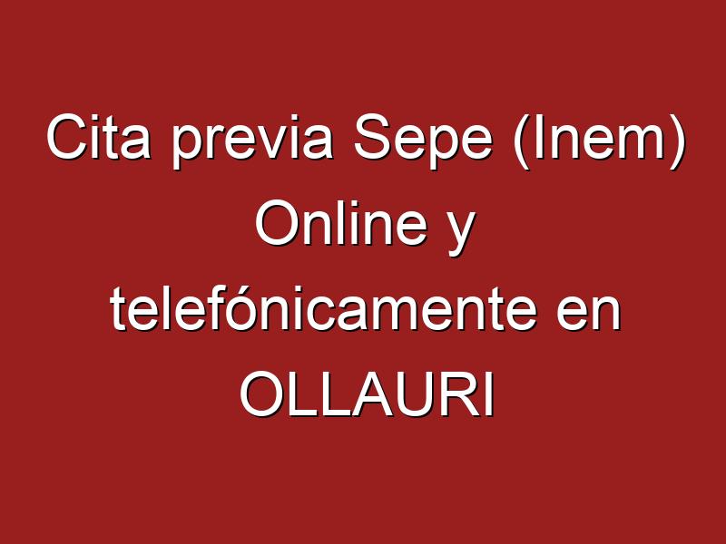 Cita previa Sepe (Inem) Online y telefónicamente en OLLAURI
