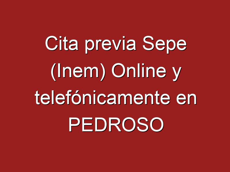 Cita previa Sepe (Inem) Online y telefónicamente en PEDROSO