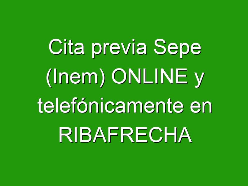 Cita previa Sepe (Inem) ONLINE y telefónicamente en RIBAFRECHA