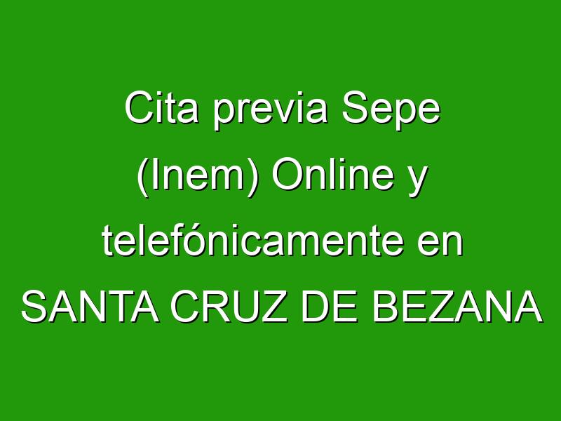 Cita previa Sepe (Inem) Online y telefónicamente en SANTA CRUZ DE BEZANA