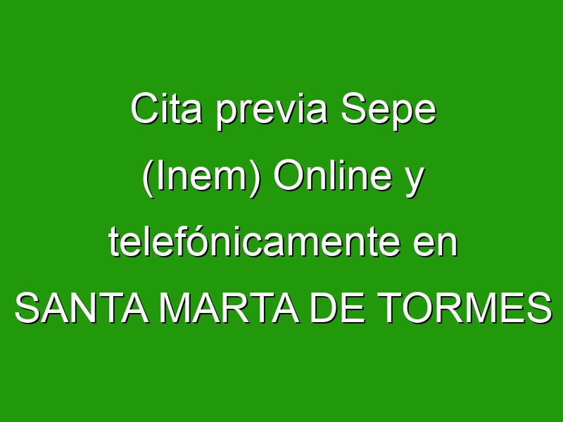 Cita previa Sepe (Inem) Online y telefónicamente en SANTA MARTA DE TORMES