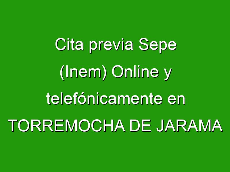 Cita previa Sepe (Inem) Online y telefónicamente en TORREMOCHA DE JARAMA