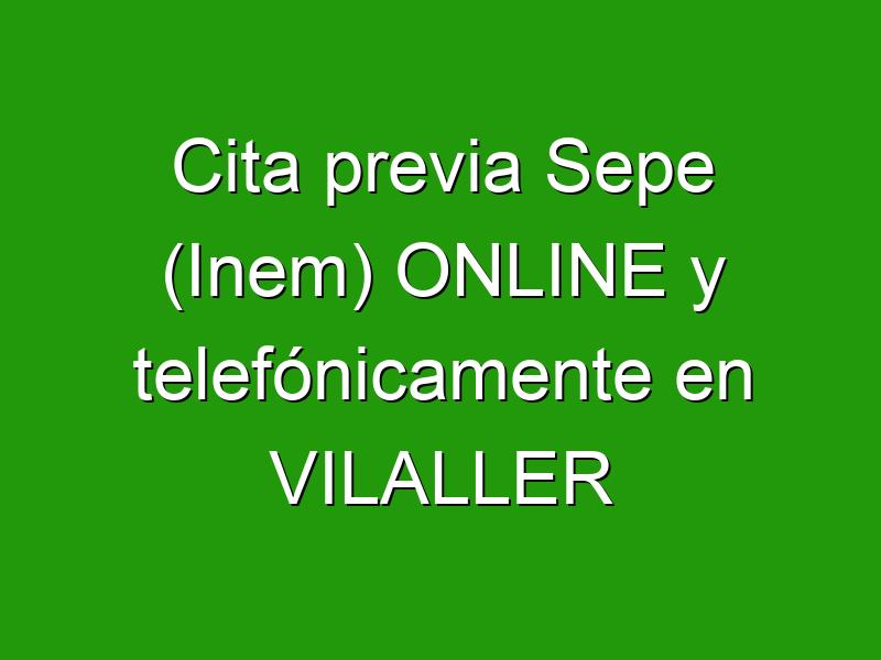 Cita previa Sepe (Inem) ONLINE y telefónicamente en VILALLER