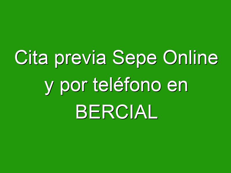 Cita previa Sepe Online y por teléfono en BERCIAL