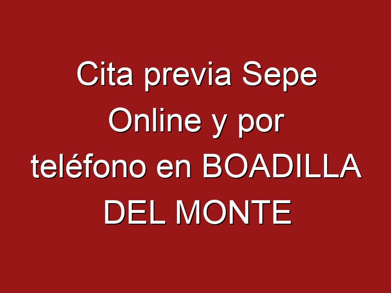Cita previa Sepe Online y por teléfono en BOADILLA DEL MONTE