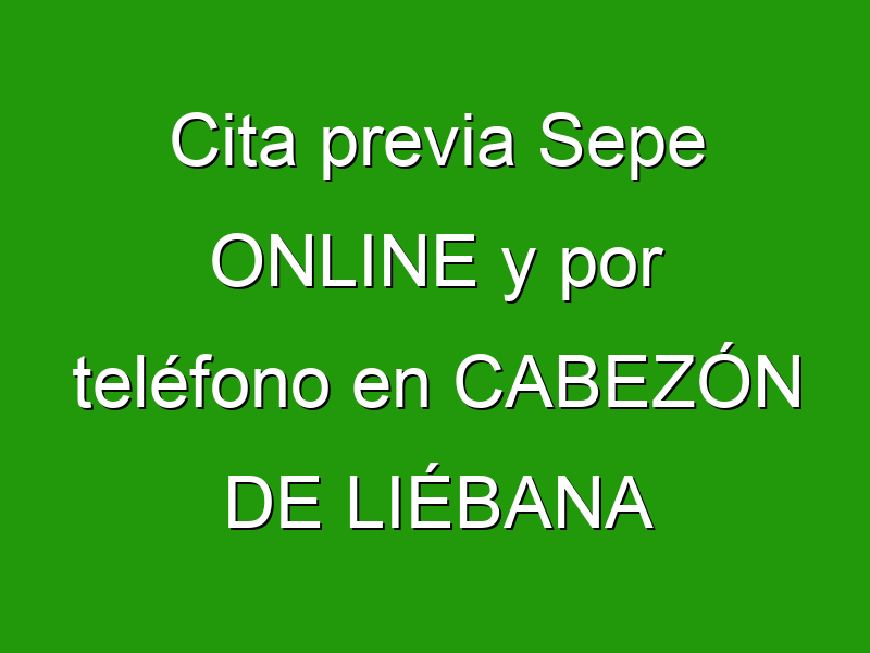 Cita previa Sepe ONLINE y por teléfono en CABEZÓN DE LIÉBANA