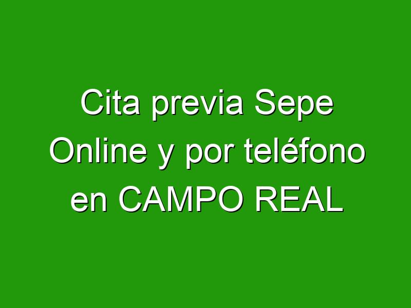 Cita previa Sepe Online y por teléfono en CAMPO REAL