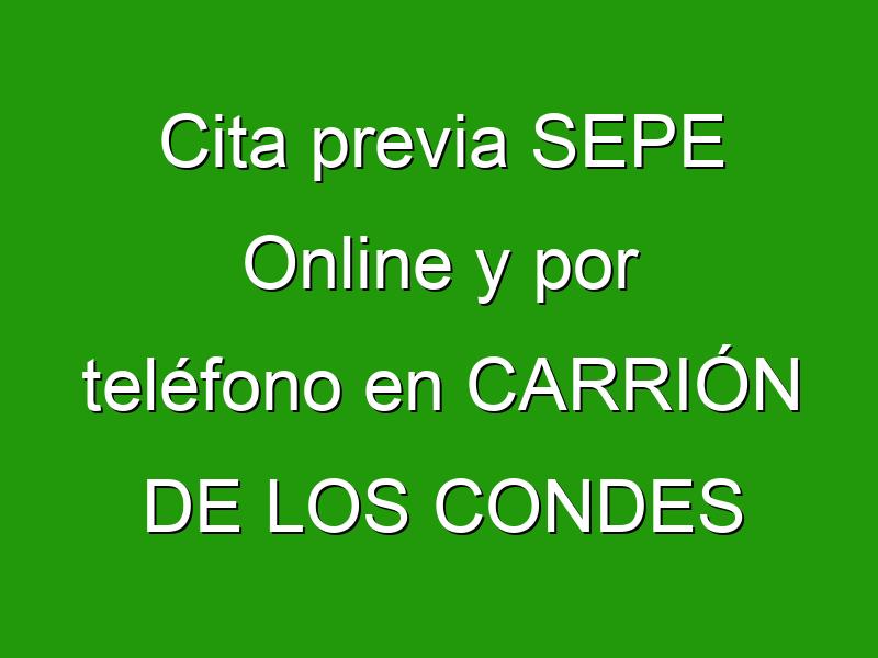 Cita previa SEPE Online y por teléfono en CARRIÓN DE LOS CONDES