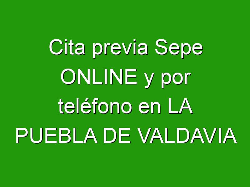 Cita previa Sepe ONLINE y por teléfono en LA PUEBLA DE VALDAVIA