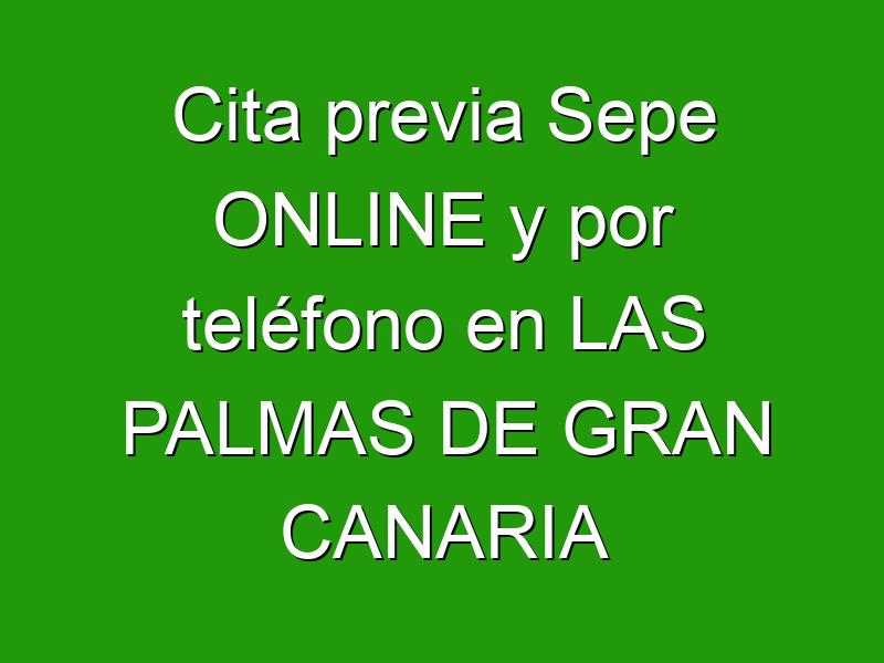 Cita previa Sepe ONLINE y por teléfono en LAS PALMAS DE GRAN CANARIA