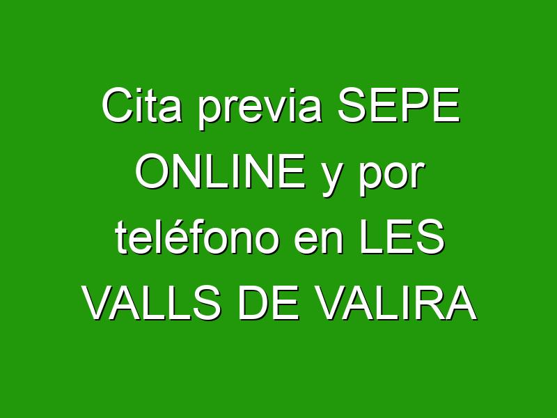 Cita previa SEPE ONLINE y por teléfono en LES VALLS DE VALIRA