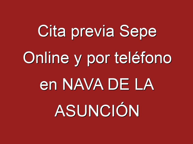 Cita previa Sepe Online y por teléfono en NAVA DE LA ASUNCIÓN