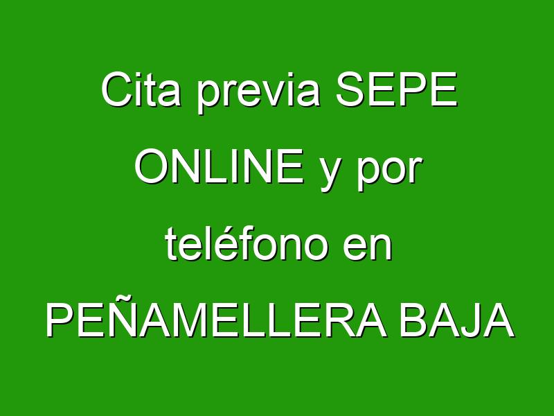 Cita previa SEPE ONLINE y por teléfono en PEÑAMELLERA BAJA