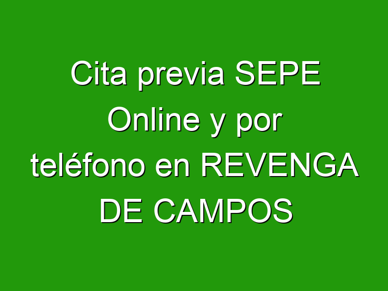 Cita previa SEPE Online y por teléfono en REVENGA DE CAMPOS