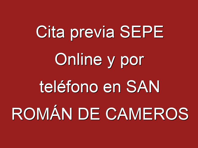 Cita previa SEPE Online y por teléfono en SAN ROMÁN DE CAMEROS