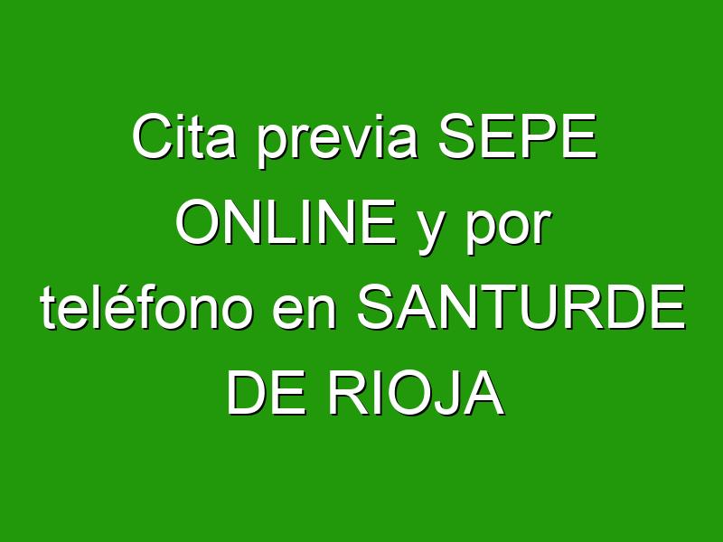 Cita previa SEPE ONLINE y por teléfono en SANTURDE DE RIOJA