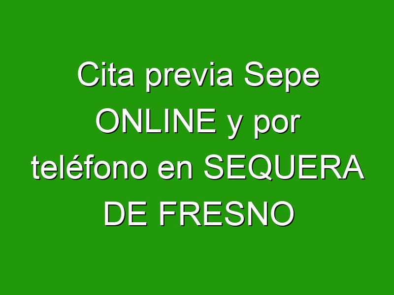 Cita previa Sepe ONLINE y por teléfono en SEQUERA DE FRESNO