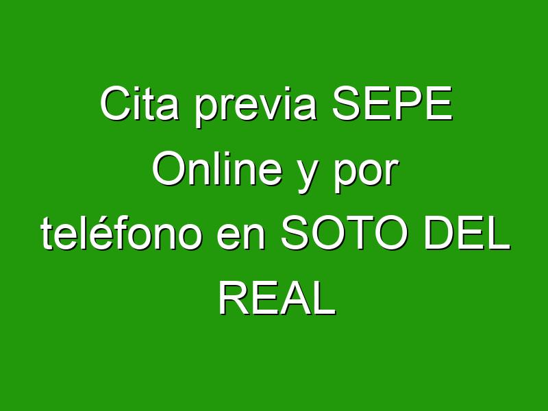 Cita previa SEPE Online y por teléfono en SOTO DEL REAL