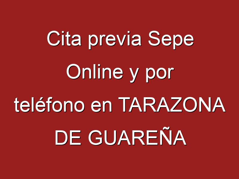 Cita previa Sepe Online y por teléfono en TARAZONA DE GUAREÑA