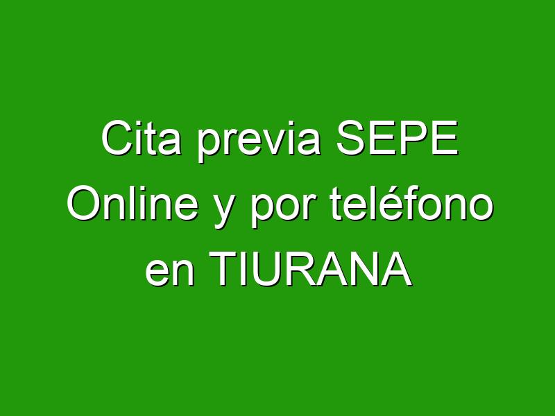 Cita previa SEPE Online y por teléfono en TIURANA