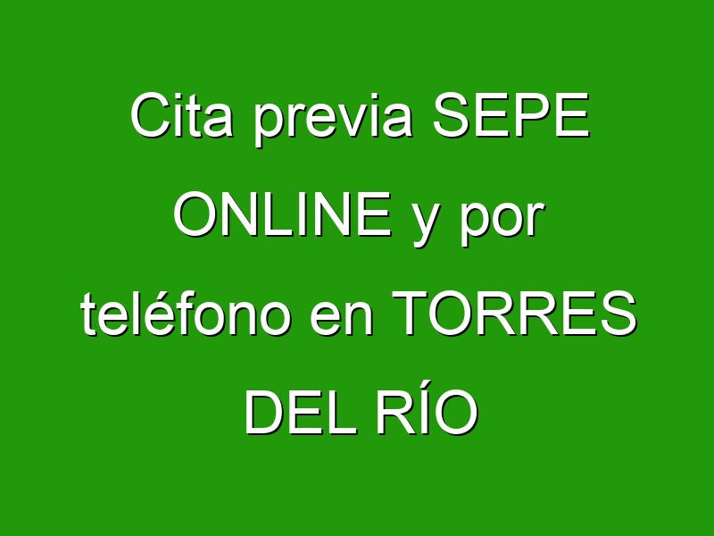 Cita previa SEPE ONLINE y por teléfono en TORRES DEL RÍO