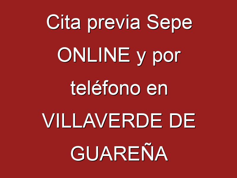 Cita previa Sepe ONLINE y por teléfono en VILLAVERDE DE GUAREÑA