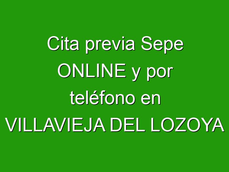 Cita previa Sepe ONLINE y por teléfono en VILLAVIEJA DEL LOZOYA