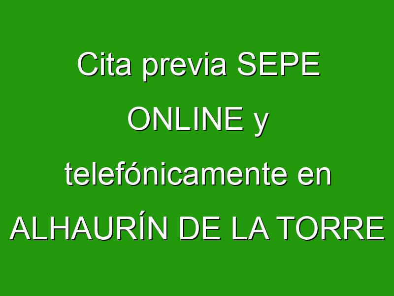 Cita previa SEPE ONLINE y telefónicamente en ALHAURÍN DE LA TORRE