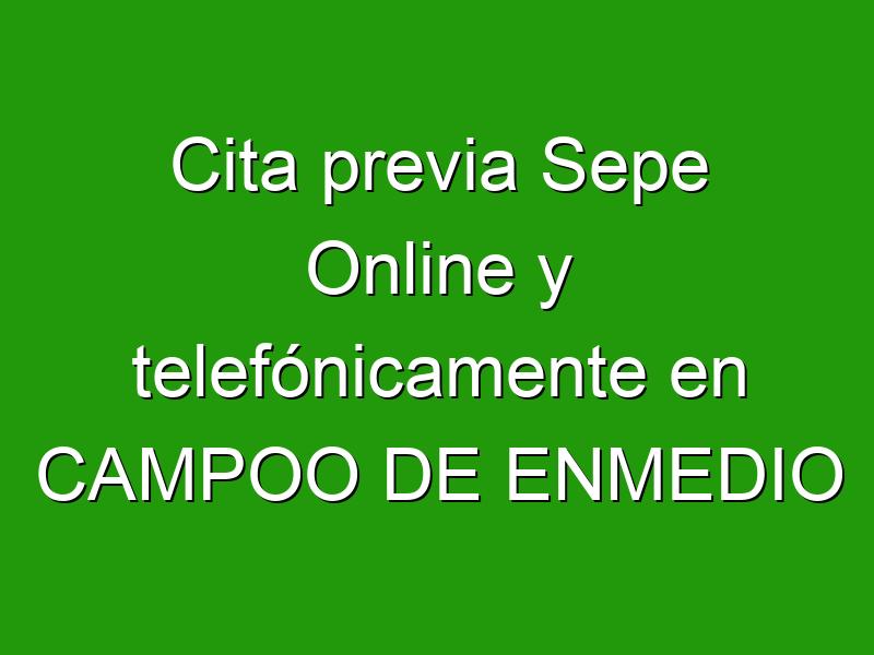 Cita previa Sepe Online y telefónicamente en CAMPOO DE ENMEDIO