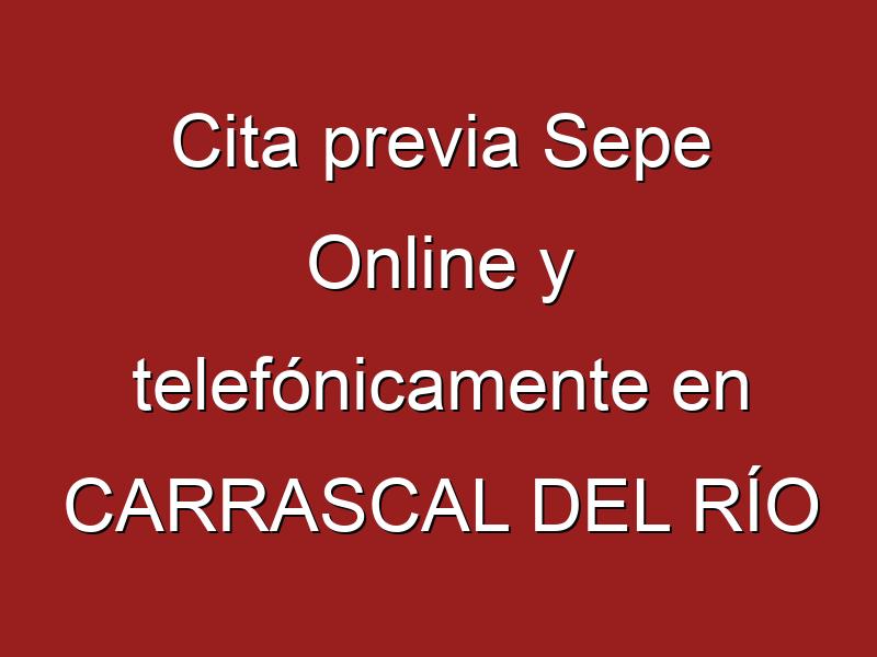 Cita previa Sepe Online y telefónicamente en CARRASCAL DEL RÍO