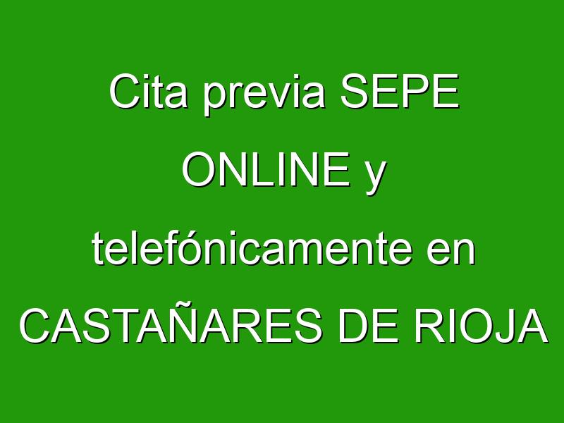 Cita previa SEPE ONLINE y telefónicamente en CASTAÑARES DE RIOJA