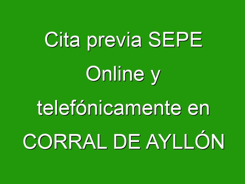 Cita previa SEPE Online y telefónicamente en CORRAL DE AYLLÓN