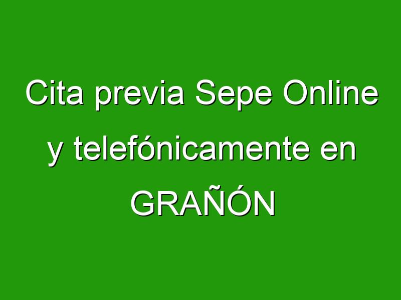 Cita previa Sepe Online y telefónicamente en GRAÑÓN
