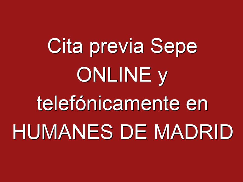 Cita previa Sepe ONLINE y telefónicamente en HUMANES DE MADRID
