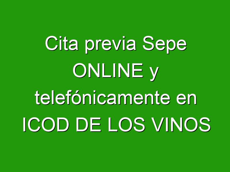 Cita previa Sepe ONLINE y telefónicamente en ICOD DE LOS VINOS