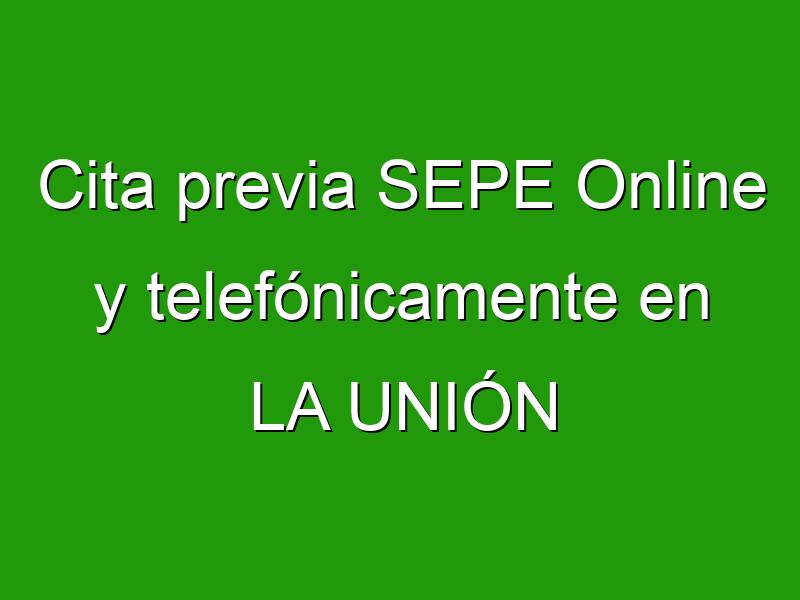 Cita previa SEPE Online y telefónicamente en LA UNIÓN
