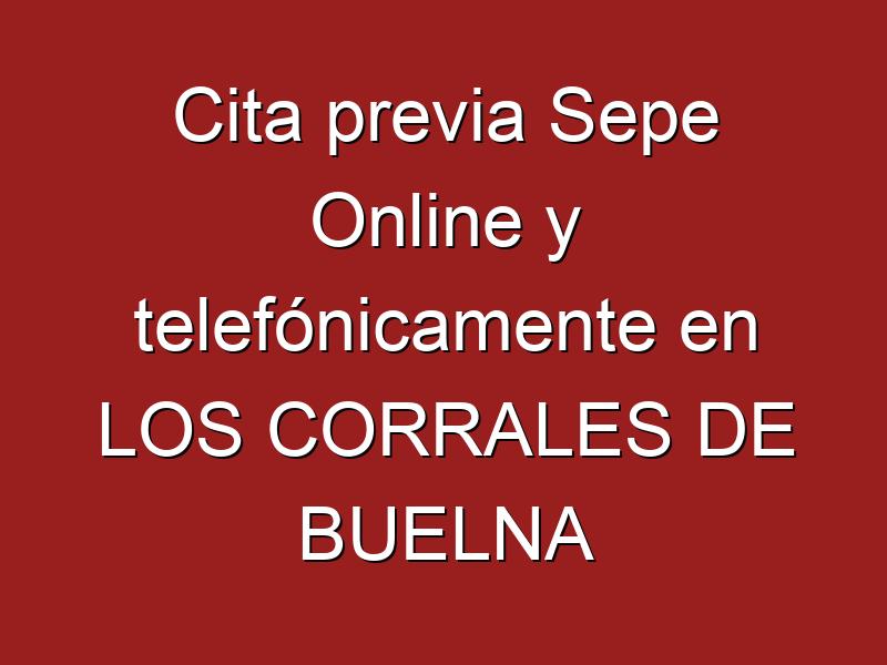 Cita previa Sepe Online y telefónicamente en LOS CORRALES DE BUELNA