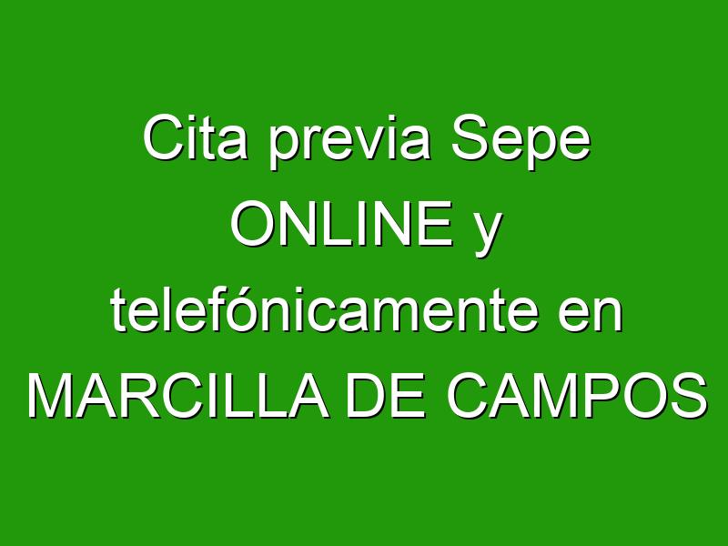 Cita previa Sepe ONLINE y telefónicamente en MARCILLA DE CAMPOS